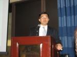 James MIn, DHL Express, Title sponsor, Introduces Ambassador Han Duk-soo