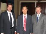 Ambassador Han Duk-soo, 2010-2011 Northern Kentucky Chamber Chairman Eric Haas, Northern Kentucky Chamber President Steve Stevens