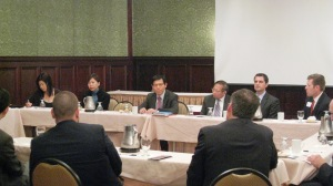 Hong Kong Comissioner Tong speaks in Northern Kentucky